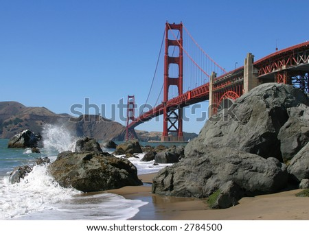 Golden Gate From Bakers Beach