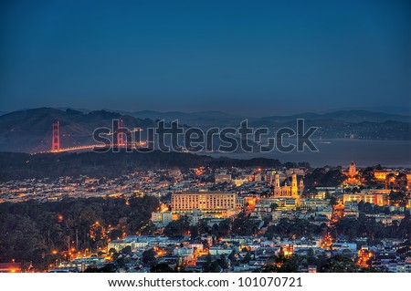 Golden Gate in San Francisco - Bay Area - stock photo