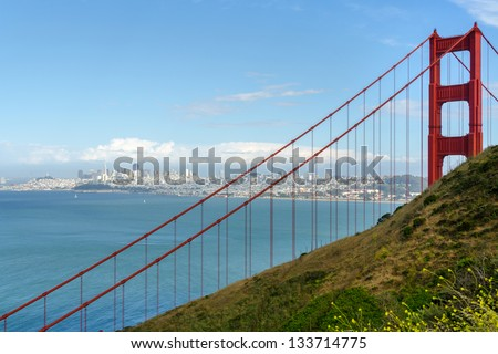 Golden Gate in San Francisco, California in United States of America