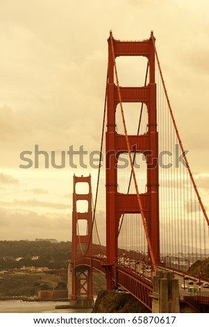 Golden Gate in San Francisco city - stock photo