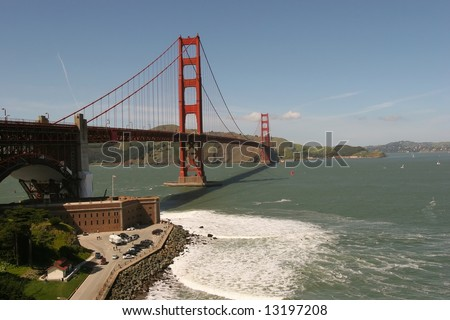 Golden Gate National Recreation Area (GGNRA) is a U.S. National Recreation Area administered by the National Park Service that surrounds the San Francisco Bay area. - stock photo