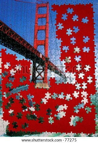 Golden Gate Puzzle - stock photo