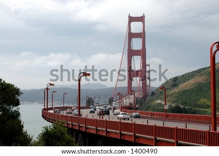 Golden Gate Rush Hour - stock photo