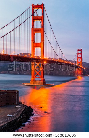 Golden Gate, San Francisco, California, USA. - stock photo