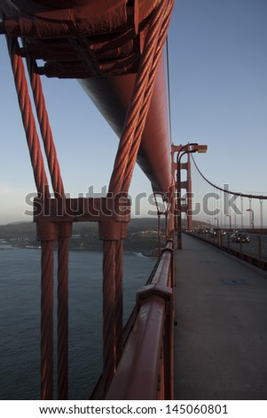 Golden Gate suspension bridge, San Francisco, California, USA - stock photo