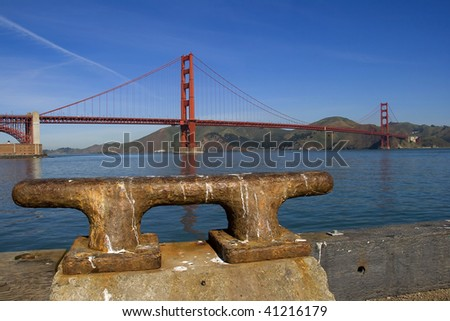 Golden Gate, the world famous bridge. San Francisco, california, usa. - stock photo