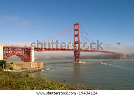 Golden Gate with fog