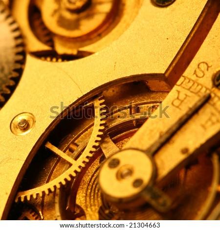 golden gear - stock photo