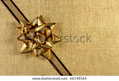 golden gift - stock photo