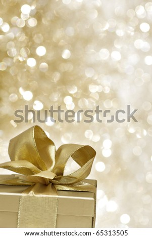 Golden gift on a