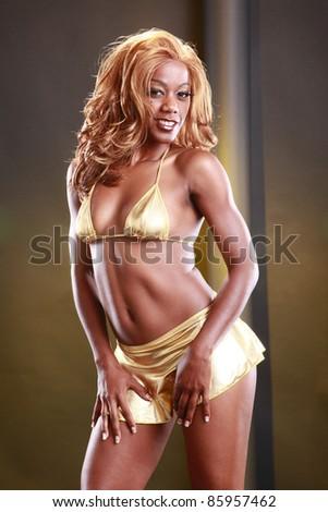 Golden girl - stock photo