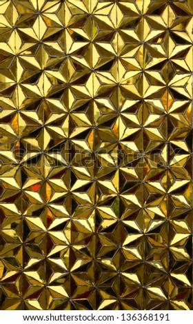 golden glass seamless mosaic - stock photo