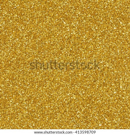 Golden glitter texture christmas background. Seamless square texture. Tile ready. - stock photo
