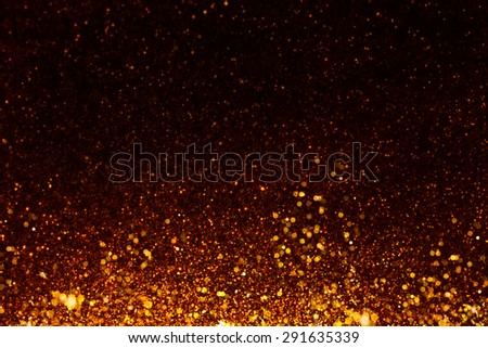 Golden glittering star Background  - stock photo