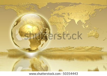Golden Global generation - business edition - stock photo
