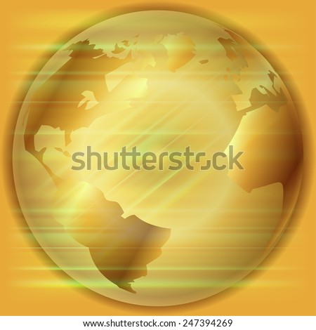 Golden Globe background  template  - stock photo