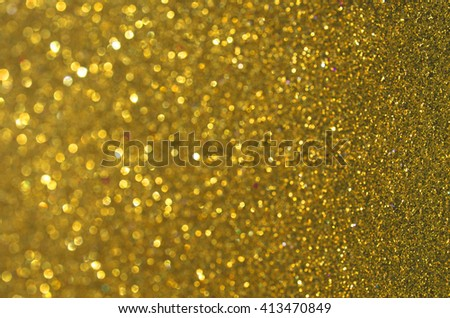 golden Glow glitter background. Elegant abstract background with bokeh effect - stock photo