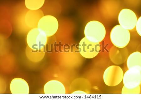 Golden glow light blur - stock photo