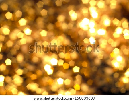 Gold Sequin Background Golden Glow Sequins Background