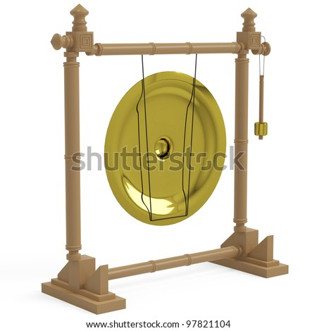 golden gong side view