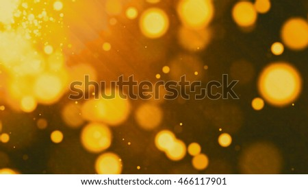 golden grunge abstract bokeh for background