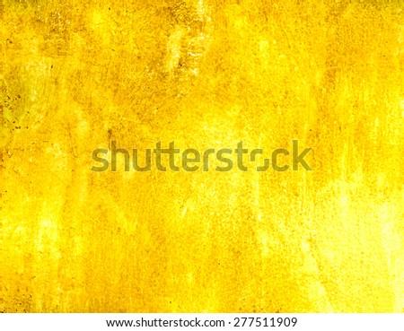 Golden  grunge background - stock photo
