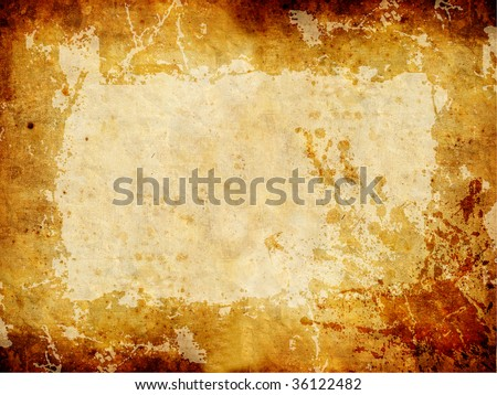 Golden Grunge Texture. Yellow Brown Old Background.