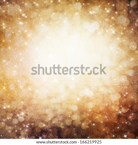 Golden Holiday Abstract background.  - stock photo