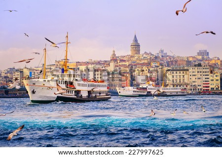 Golden Horn, Istanbul, Turkey - stock photo