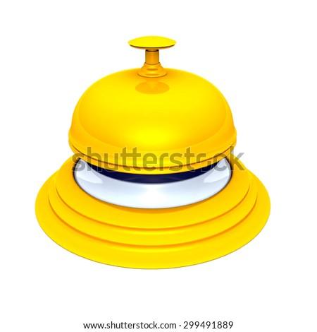 golden hotel bell - stock photo