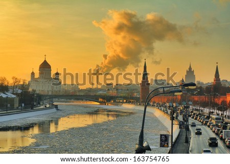 Golden hour in Moscow