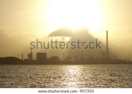 Golden Industries - stock photo