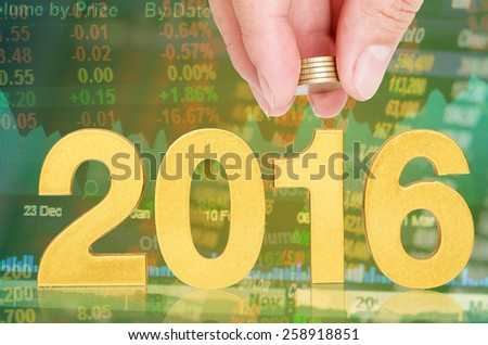 golden 2016,investor concept - stock photo