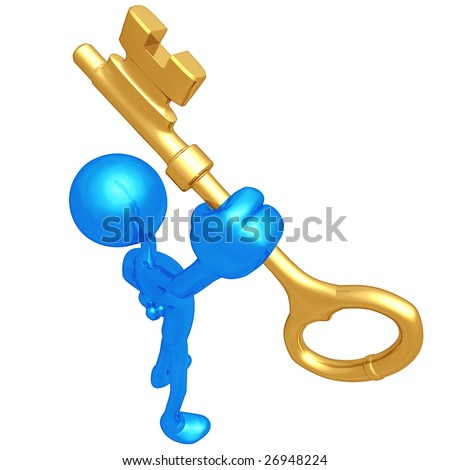 Golden Key - stock photo