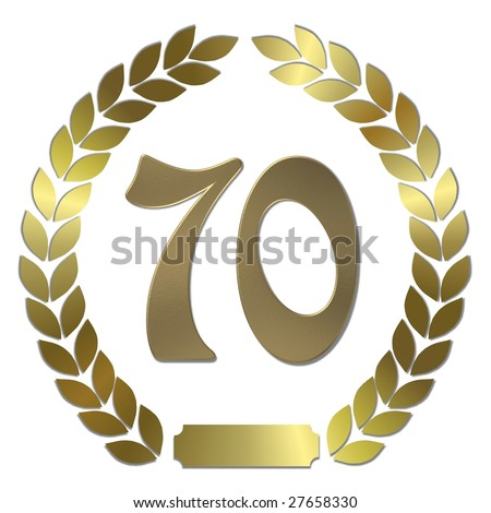 golden laurel wreath 70 years