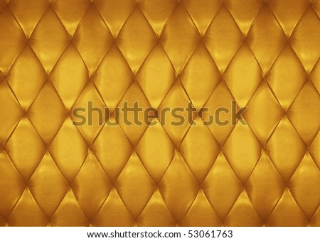 Golden leather pattern - stock photo