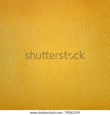 Golden leather texture - stock photo