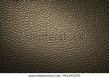 Golden leather texture background for design with copy space for text or image. Pattern of leather that occurs natural.