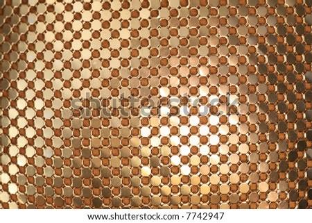 Golden links texture. - stock photo