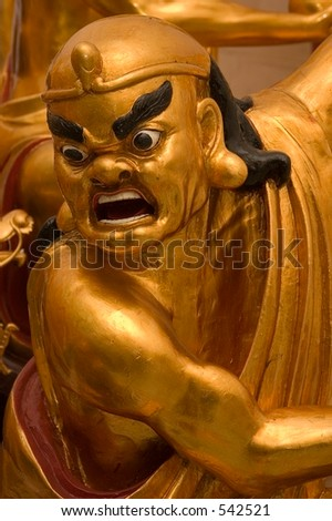 Golden Lohan statue - stock photo
