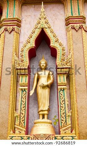 Golden lord buddha - stock photo