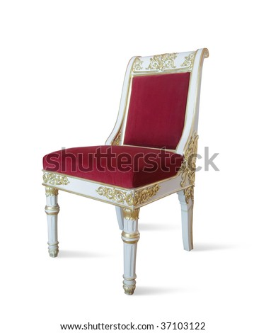 Golden luxury. . Isolated on white with clipping path - stock photo