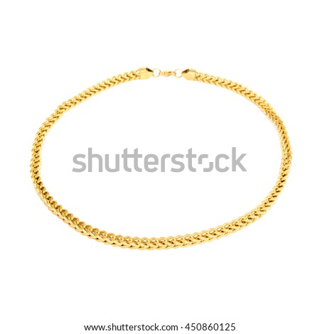 Golden male pendant isolated on white