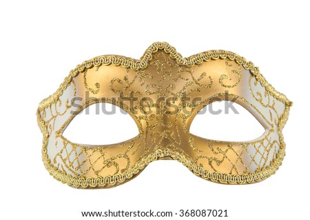 Golden Mask theater - stock photo