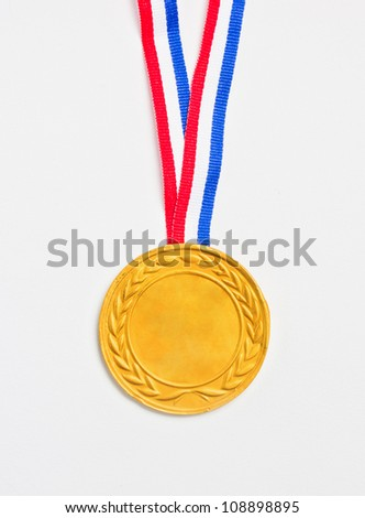 Golden  medal. - stock photo