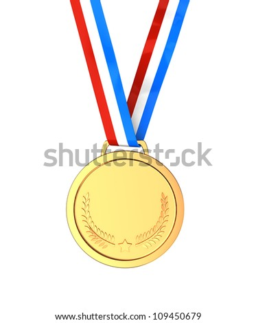 Golden medal -  first place sport champion