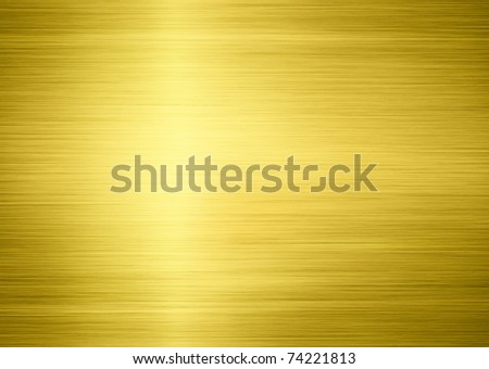 golden metal shiny texture as background - stock photo