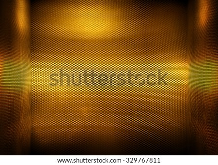 golden metal space background - stock photo