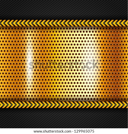 Golden metallic surface. Vector version also available - stock photo