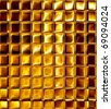 golden mosaic - stock photo